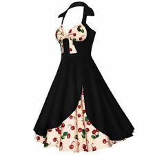 Women New Vintage Cotton Fabric Floral Patchwork Casual Party Dress