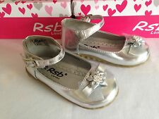 TODDLER GIRLS KIDS SPARKLY SILVER PARTY BRIDESMAID WEDDING FLOWER GIRL SHOES 3-9