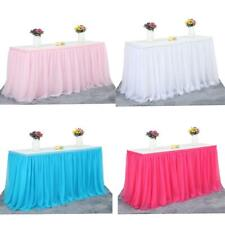 Large Tulle Tutu Table Skirt Tableware Party Xmas Baby Shower Table Decor14ft