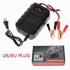 12V 20A Car Intelligent Battery Charger Automobile Lead Acid Battery LCD screen