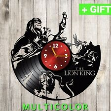 Lion King clock from Vinyl Record handmade Disney Wall Decor with sticker dial