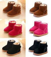 Children Baby Boys Girls Snow Boots Fur Short Ankle Boots Warm Winter Shoes Size