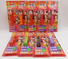 Disney Mickey and Friends Pez Dispenser Set of 9 on Cards Mickey Minnie Goofy