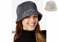August Womens Hats Chenille Cloche Gray OR Ivory One Size
