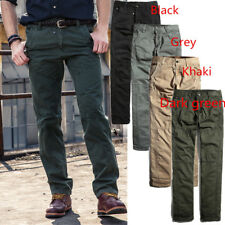 Mens Trendy Cargo Cotton Military Combat Tactical Casual Long Pants Trousers NEW