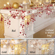 Christmas Sparkle Garland Decoration Xmas Crystal Lights Home Lighted Ornaments