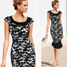 Vintage Style Peter Pan Collar Button Decorated Short Sleeve Dress for Women