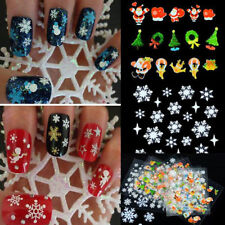 12 Sheet Christmas Snowflake 3D Nail Art Stickers Decals Tips DIY Decor Manicure