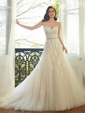 Hot NEW Stock White Ivory Lace Wedding Dress Bridal Gown Size:6 8 10 12 14 16