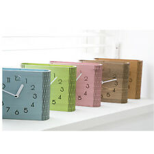 Wall table Clock Home decor wood Kids office room interior silent Clock Curved