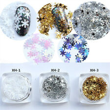 Christmas Ultra-thin Snowflake Nail Art Shiny Glitter Sequin DIY Nail Decoration