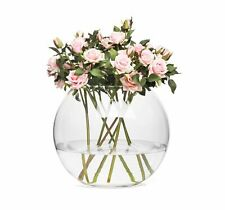 Glass Round Modern Fish Bowl Sphere Style Bud Vase Choice of 3 Sizes