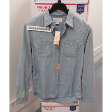 DENIM & SUPPLY RALPH LAUREN MENS CHAMBRAY DENIM BUTTON SHIRT BLUE SIZE M,XL