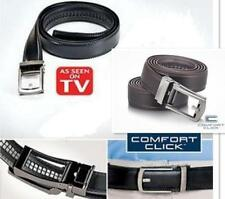 NEW COMFORT CLICK Leather Belt for Men Black or Brown As Seen on TV