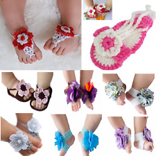 Hot Cute Baby Shoes Infant Toddler Barefoot Shoes Flowers Blooms Sandals Socks