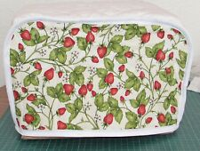 Quilted Toaster Cover Strawberries Made to Order SEND YOUR MEASUREMENTS!!
