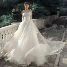 Custom Made Wedding dresses Long Sleeve Illusion Sweetheart Neck Bridal Gown New