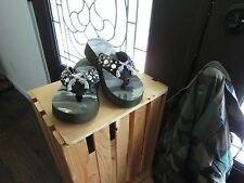 """Rhinestone """"CAMO"""" with Pistols Flip Flops by Hide~N~Sole! It's a """"BLING"""" Thing!"""