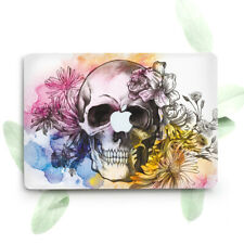 Skull Floral Flowers Art Hard Cover Case For Macbook Pro Retina Air 11 12 13 15
