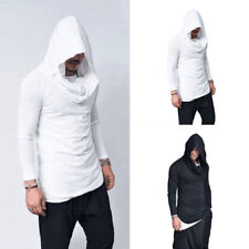 Mens Hooded Slim Fit Long Sleeve Casual Shirt T-shirts Fashion Tops Pullover Tee