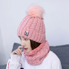 Fashion Winter Hat Scarf Set For Women Knitted Beanies And Scarf Female Warm Win