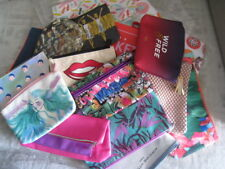 Cosmetics, Makeup Bags - different brand, color, bag only, lined, zip closure