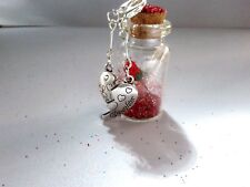 Mother / Daughter - Personalised Glass Bottle Charm - Ideal Gift / Keepsake