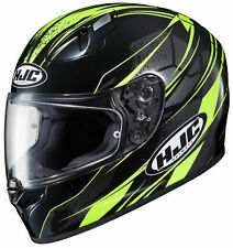 HJC Adult Hi-Viz/Black FG-17 Toba Motorcycle Full Face Helmet Snell DOT