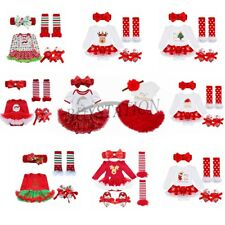 Newborn Infant Baby Girls Christmas Santa Romper Tutu Dress Fancy Outfit Clothes