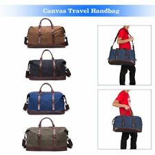 Mens Large Sports Duffle Canvas Weekend Gym Travel Messenger Crossbody Tote Bags