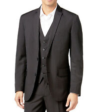 NEW INC INTERNATIONAL CONCEPTS TWO BUTTON BLACK PINSTRIPE BLAZER JACKET M