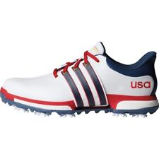 NEW MEN'S ADIDAS TOUR 360 BOOST GOLF SHOES WHITE/BLUE/RED F33512- PICK A SIZE