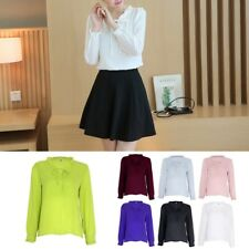 Korean Style Women Chiffon Blouse Office Wear Long Sleeve Summer Shirt Tops