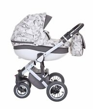 Baby Pram Stroller Buggy Pushchair Baby Merc Faster3 3in1 car seat