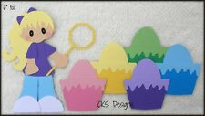 Coloring Easter Eggs Girl Scrapbook Page Embellishment Paper Piecing CKS Designs