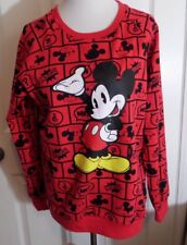 NWOT JUNIOR DISNEY Red Comic Mickey Mouse Sweatshirt