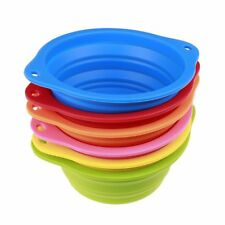 Collapsible Pet Dog Bowl Food Water Feeding 850ML Portable Bowl with Buckle UR