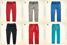 NWT Hollister-Abercrombie&Fitch Mens Sweatpants Classic/Joggers Blue Red