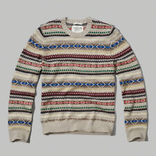 NWT Abercrombie&Fitch Mens Sentinel Range Sweater Crewneck XL Authentic