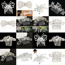 Women Crystal Rhinestone Diamonds Comb Clip Wedding Bridal Hair Accessories New