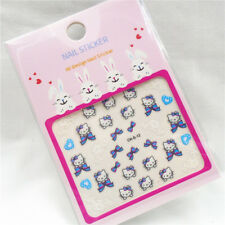 30 Styles Cute Hello Kitty Glitter 3D Nail Art Stickers Decals for Gel Polish