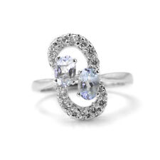 925 Sterling Silver Ring with Blue Topaz Natural Gemstones Oval Cut eBay