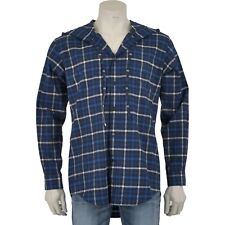 BALENCIAGA 795$ Authentic New Blue Cotton Hooded Checked Flannel Shirt