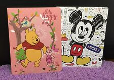 Disney Mickey Minnie Mouse Winnie The Pooh Note Book Diary Journal Travel Gift