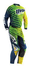 Thor Lime Green Blue Yellow Phase Vented Rift Mens Youth Dirt Bike Jersey Pants
