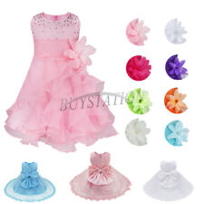 Flower Girl Dress Tutu Infant Baby Pageant Wedding Bridemaid Birthday Party Gown