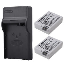 2x 1500mAh LP-E8 Replacement Battery + Charger for Canon EOS T2i 550D LPE8 Rebel