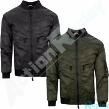 Mens Soulstar Camouflage Chest Pocket MA1 Bomber Jacket Coat Size
