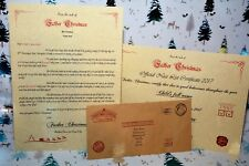 Personalised vintage letter from Santa/Father Christmas Nice List certificate