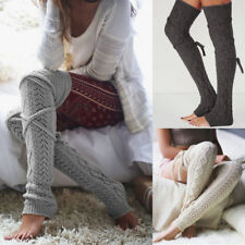 Womens Girls Soft Knit Extra Long Boot Socks Over Knee Thigh High Warm Stocking